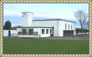 Rear view of St. Peter's Church in Wales Primary School